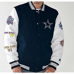 NFL Dallas COWBOYS Super Bowl Cotton Canvas Commemorative Jacket~ 2XL by G-III Sports