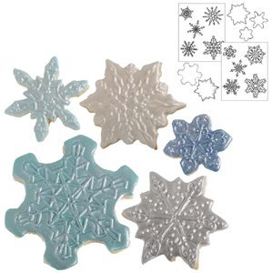 Country Kitchen Snowflake Cookie Cutter Texture Set