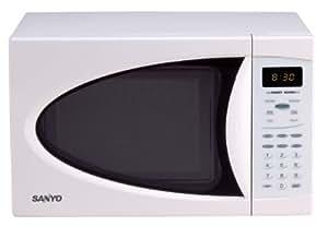 Sanyo EM-U1000W Compact Microwave Oven, White