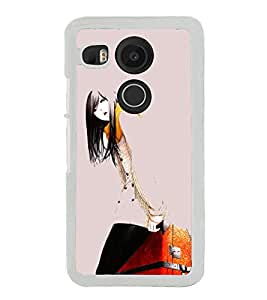 Girl with Travel Bag 2D Hard Polycarbonate Designer Back Case Cover for LG Nexus 5X :: LG Google Nexus 5X New
