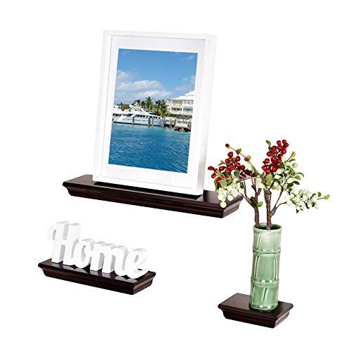 WELLAND Dover 3-Piece Display Shelves Set, Espresso (Decorative Shelf Expresso compare prices)