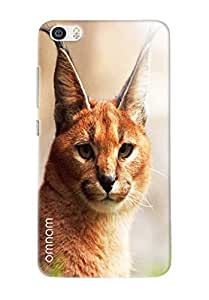 Omnam Cat With Standing Ears Watching Printed Designer Back Case For Xiaomi Mi5