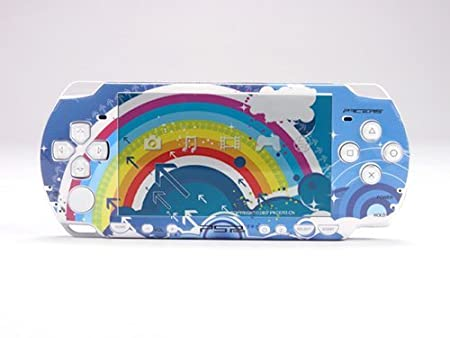 RAINBOW PSP (Slim) Dual Colored Skin Sticker, PSP 2000