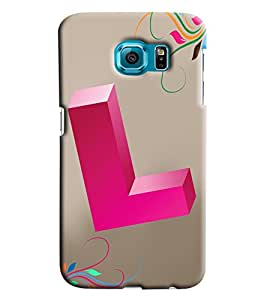 Clarks Letter L Hard Plastic Printed Back Cover/Case For Samsung Galaxy S6 Edge Plus