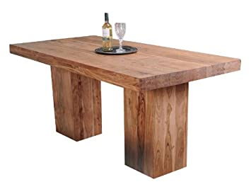Shankar Enterprises Alwar Large Dining Table, 1.8 m/ 78 x 180 x 90 cm, Natural Acacia