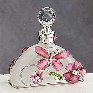 StealStreet Pink Butterfly Perfume Bottle Scented Fragrance Container