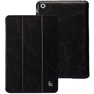 JISONCASE & LifeStyles iPad mini【本革 ビンテージレザー】ビンテージ レザー スマートケース 全3色 【2013前期モデル】 JS-IDM-01A10 (ブラック)