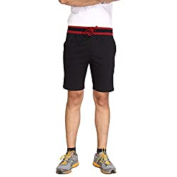 Men's Cotton Shorts in Black by Bongio_RMS5A3006C_L