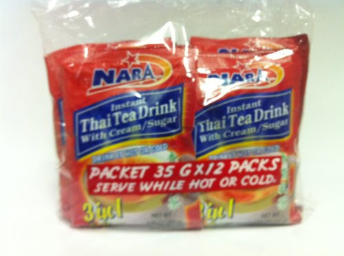 Nara Instant Thai Tea Drink, 12 Packs X 35Grams