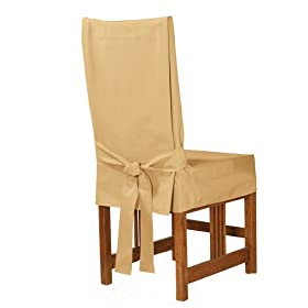 short dining room chair cover
