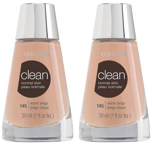 CoverGirl Clean Liquid Makeup, 145, Warm Beige