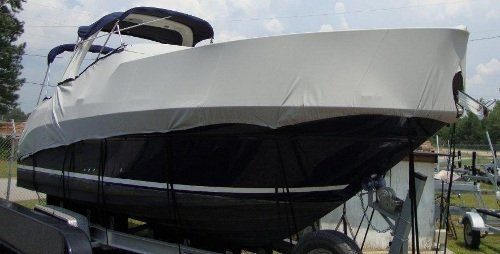 Boat Cover High Profile Cabin Cruiser  Radar