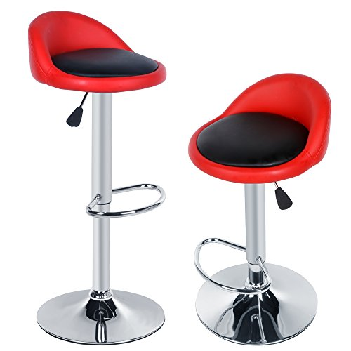 cravog-2pcs-synthetic-leather-adjustable-rotating-height-bar-stool-chair-red-for-out-and-black-insid