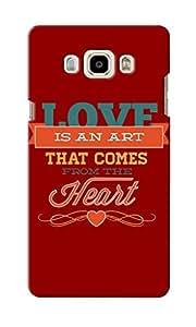 KnapCase Love Art Designer 3D Printed Case Cover For Samsung Galaxy J7 2016