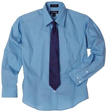 Izod Big Boys 39 Shirt And Tie Set Dress Shirts