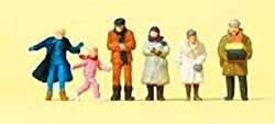 Passengers Standing in Winter Dress (6) HO Scale Preiser Models