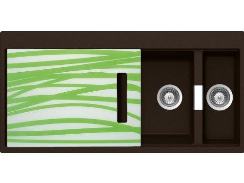 Schock Horizont D-150 A G Chocolate Granitspüle Braunton Einbau-Spüle Küche