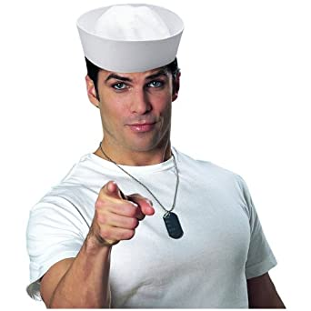 White Sailor Hat Costume Accessory