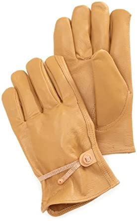 Carhartt Men's Full Grain Leather Driver Work Glove, Brown, Medium