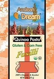 Organic Quinoa Pasta Fusilli Gluten Free Andean Dream 8 oz Box