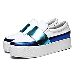 DANDU Loafers 2016 New Shoes Casual Shoes Singles Korean Version Really Lazy PU Leather platform shoes muffin with Loafers