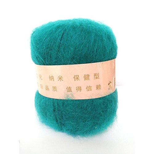 Celine lin una matassa Soft & Cashmere, Mohair, Angola-Gomitolo di lana, 50 g, colore: blu pavone