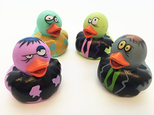 [GIFTEXPRESS 12 Pcs Zombie Rubber Duck Party Favor Perfect for Halloween Party] (Rubber Ducky Halloween Costume)