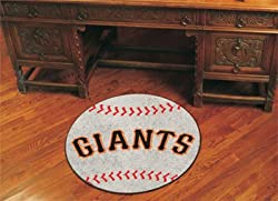 San Francisco Giants 29&quot; Round Baseball Floor Mat (Rug)