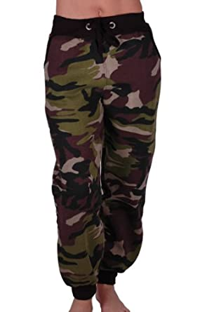 Innovative New Women Camouflage Amp Leopard Polycotton Printed Jogger Pants