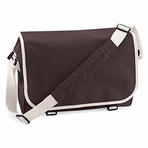 BAGBASE, Borsa a tracolla porta documenti BG21 a tracolla, colore marrone cioccolato, misto uomo/donna