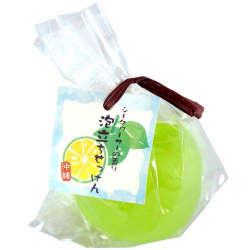 沖縄 シークヮーサーの香り泡立ちせっけん 88g
