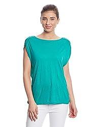 Madame Women's Body Blouse Top (M1551523_Dark Green_Medium)