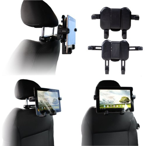Navitech Portable Dvd Player / Netbooks / Notebooks / Tablet Pc & Laptop In Car Headrest / Back Seat Black Expandable Firm Grip Mount Cradle For The Sony Vaio X Series, Sony Vaio M Series, M11X R2, Mac Book Air 2010, Inspiron 15Z, Dell Inspirion 1018, Hp front-1074040