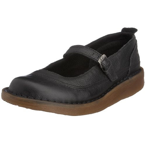 Dr. Martens Women's Ina Mary Jane Flat Black 13523008 4 UK