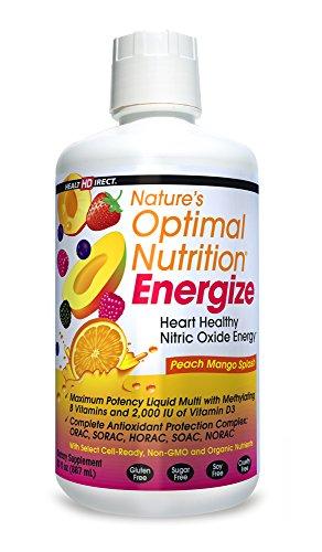 Nature'S Optimal Nutrition Energize Peach Mango Splash Healthdirect 30 Fl Oz Liq