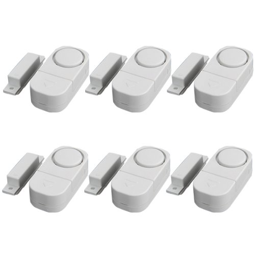 Meco(Tm) Wireless Home Doors Windows Security Entry Alarm System - Easy To Install Free Battires!! (Pack Of 6)