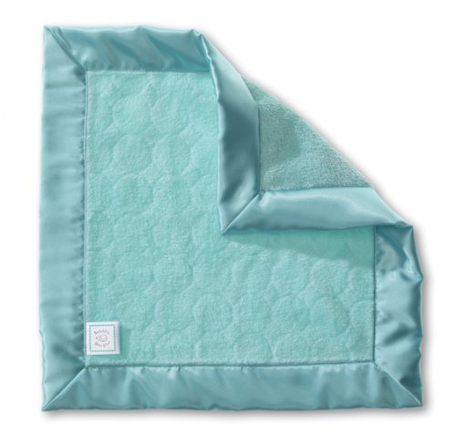Swaddledesigns Baby Lovie, Security Blanket With Jewel Tone Puff Circles, Turquoise