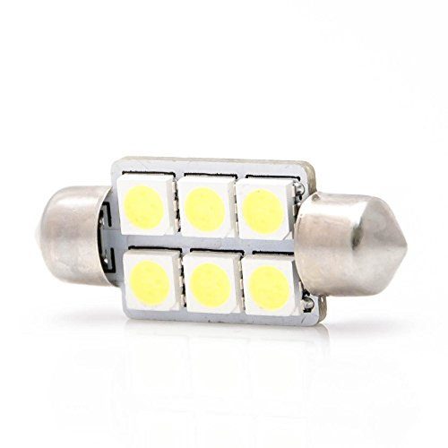 lightec24 led c5w soffitte 6 smd 5050 36 mm wei innenraum beleuchtung kfz interior. Black Bedroom Furniture Sets. Home Design Ideas