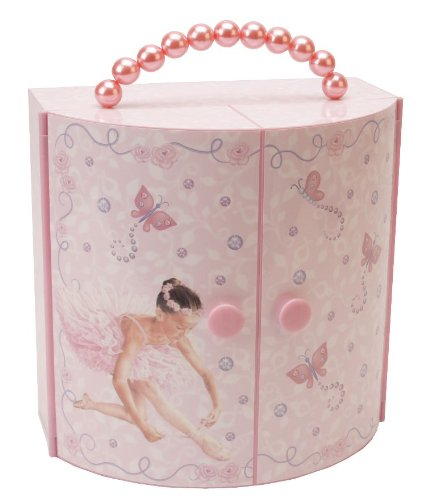 Musical Ballerina Jewellery Box Wardrobe/Silhouette