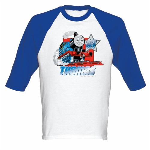 Thomas The Train Shirts - Thomas #1 Adult Baseball Jersey T-shirt Picture