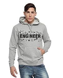 Adro Men's Hooded Cotton Sweatshirt (Grey)