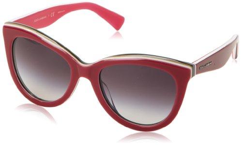 D&G Dolce & Gabbana Women'S 0Dg4207 Cat-Eye Sunglasses,White Multilayer Turquoise,55 Mm