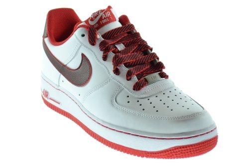 Nike Universidad Air Force 1 Hombres Zapatillas Blanco  Universidad Nike Rojo 488298 139 12 975b71
