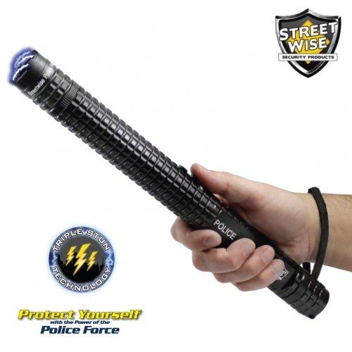 New Police Force 10,000,000* Tactical Stun Baton Flashlight