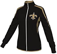 Orleans Saints Women's Majestic NFL Crossing Pattern Full Zip Jacket from Majestic