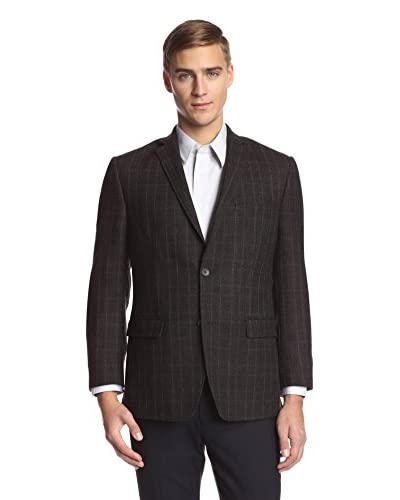 Andrew Marc Men's 2 Button Windowpane Sportcoat