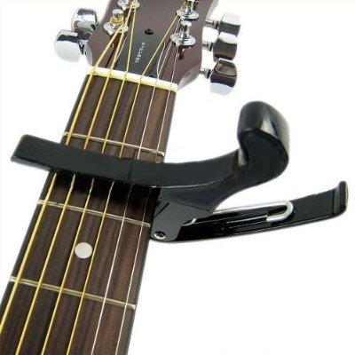 Leegoal (Tm) Premium Quick Change Folk Acoustic Electric Guitar Banjo Trigger Capo Key Clamp,Black