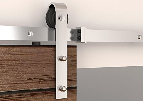 Diyhd Country Style Stainless Steel Sliding Barn Wood Door Hardware