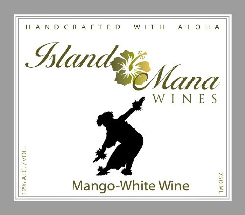 Island Mana Hawaiian Tropical Mango Wine - Demi Sec 750Ml