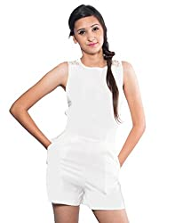 The Style Aisle Women's Jumpsuit (TSA07-B_White_Large)